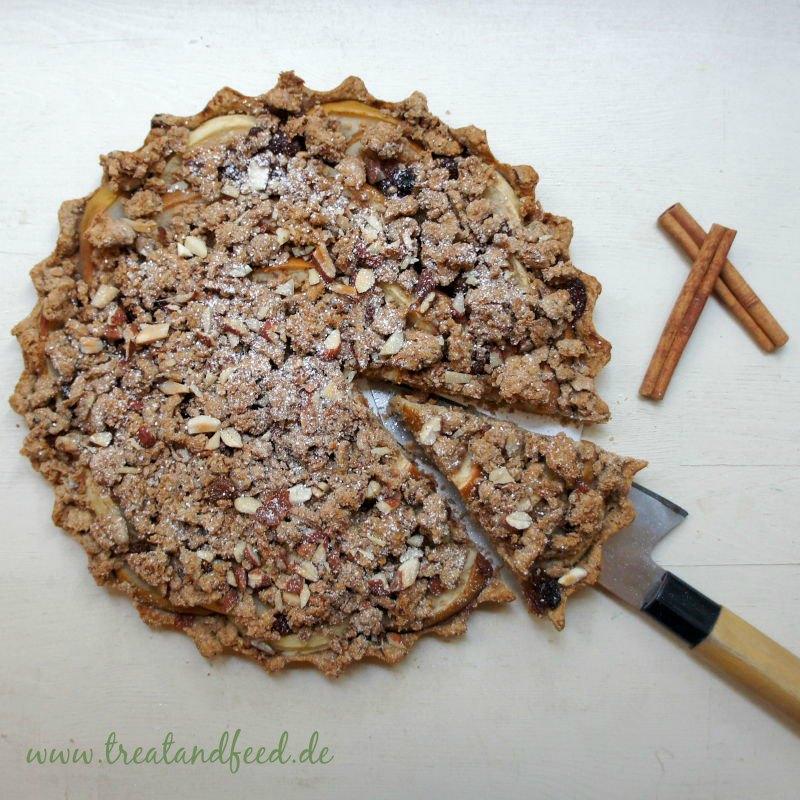 Apfel-Streuselkuchen ohne Zucker