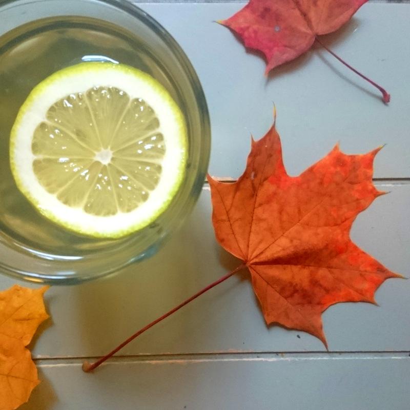 Thymian-Ingwer-Tee mit einer Scheibe Zitrone